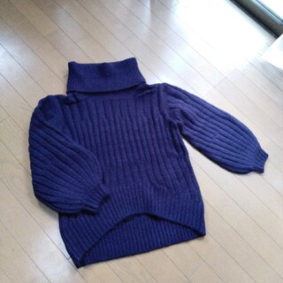 アンレリッシュ(UNRELISH)のアンレリッシュ ボリューム袖ふんわりタートルニット ✨新品✨(ニット/セーター)