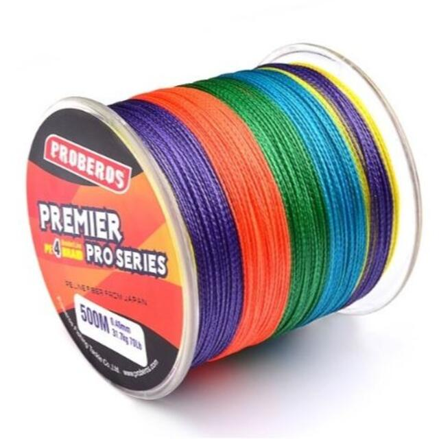 PEライン 高強度 PRO 0.4号 6lb/500m巻き 5色 カラー 釣り糸 スポーツ/アウトドアのフィッシング(釣り糸/ライン)の商品写真