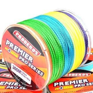 PEライン 高強度 PRO 0.8号 10lb/300m巻き 5色 カラー 釣り(釣り糸/ライン)