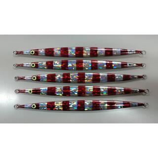 メタルジグロング ホログラム ストライプ 5本 200g 25.5cm (釣り糸/ライン)