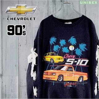 シボレー(Chevrolet)の90's CHEVROLET × DELTA ビッグプリントリメイクスウェット(トレーナー/スウェット)