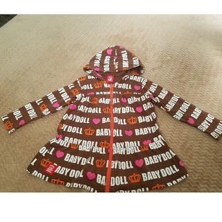 ベビードール(BABYDOLL)のBABY DOLL 100 ジップアップパーカーワンピース(ジャケット/上着)