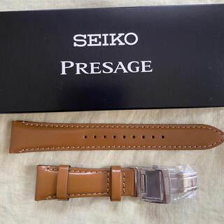 セイコー(SEIKO)のSEIKO 20mm革ベルト Dバックル付き(レザーベルト)
