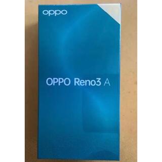 アンドロイド(ANDROID)のOPPO Reno3 A(ブラック)(スマートフォン本体)