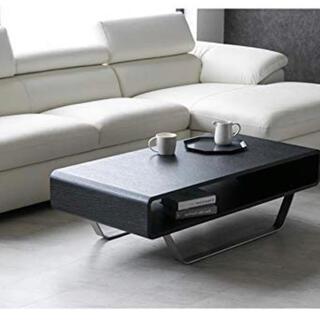 【ニス加工済・受け渡し可能】センターテーブル・ブラック・幅120cm(ローテーブル)