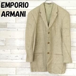 エンポリオアルマーニ(Emporio Armani)のエンポリオアルマーニ イタリア製 麻混 ヘリンボーン テーラードジャケット(テーラードジャケット)