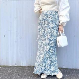エディットフォールル(EDIT.FOR LULU)のedit for lulu フラワーバイアスマキシスカート 34(ロングスカート)