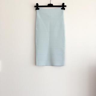 ビーシービージーマックスアズリア(BCBGMAXAZRIA)のBCBG タイトスカート ミントグリーン(ひざ丈スカート)