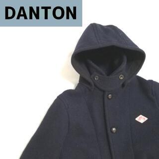 ダントン(DANTON)のダントン DANTON ウールモッサ ロング ネイビー(ダッフルコート)