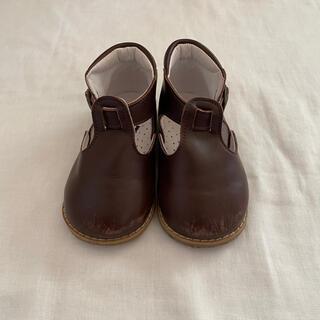 キャラメルベビー&チャイルド(Caramel baby&child )のpeep zoom t-strap shoes(フラットシューズ)