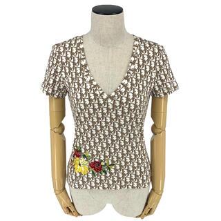 クリスチャンディオール(Christian Dior)のChristian Dior☆ Tシャツ トロッター ロゴ ホワイト ブラウン(Tシャツ(半袖/袖なし))