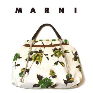 マルニ(Marni)のMARNI/本革×キャンバスハンドバッグ正規品(ハンドバッグ)