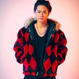 シュプリーム(Supreme)の川村壱馬着 Supreme Diamond Faux Fur Jacket S(毛皮/ファーコート)