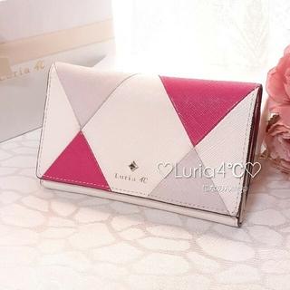 ヨンドシー(4℃)のルリア4℃ 牛革素材 折財布 アーガイルの可愛い人気デザイン(財布)