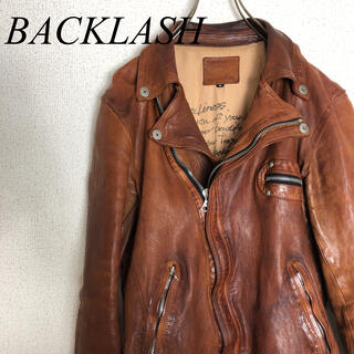 イサムカタヤマバックラッシュ(ISAMUKATAYAMA BACKLASH)のBACK LASH バックラッシュ ダブルライダース 1221-02(ライダースジャケット)