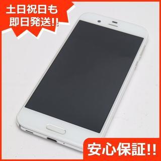 アクオス(AQUOS)の美品 au SHV39 AQUOS R ホワイト 白ロム(スマートフォン本体)