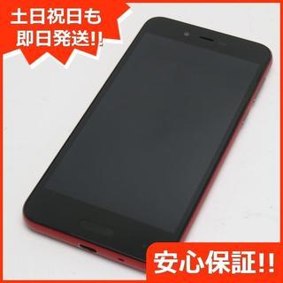 アクオス(AQUOS)の美品 SIMフリー SH-M05 レッド 本体 白ロム (スマートフォン本体)