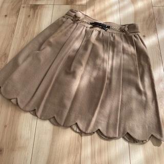 パターンフィオナ(PATTERN fiona)のパターン*スカラップベージュスカート(ひざ丈スカート)