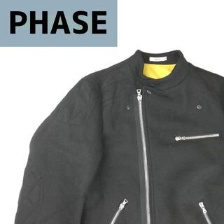 バーフェイズ(-PHASE)のーPHASE バーフェイズ ウールライダースジャケット(ライダースジャケット)