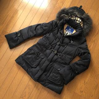 バーバリーブルーレーベル(BURBERRY BLUE LABEL)の【11月末まで値下】バーバリー ダウンコート  ブラック コート M 〜 L(ダウンコート)