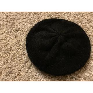 グレイル(GRL)のGRL ベレー帽 黒 アンゴラ(ハンチング/ベレー帽)