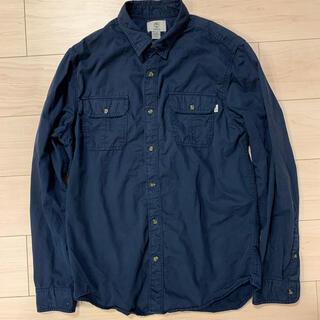 ティンバーランド(Timberland)のTimberland ティンバーランド ワークシャツ Lサイズ ネイビー(シャツ)