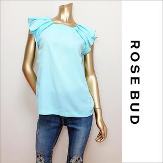 ローズバッド(ROSE BUD)のROSE BUD タック フリル ブラウス♡ナノユニバース UNTITLED(シャツ/ブラウス(半袖/袖なし))