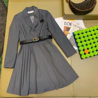 ディオール(Dior)の DIOR ラペルスーツドレス(ひざ丈ワンピース)