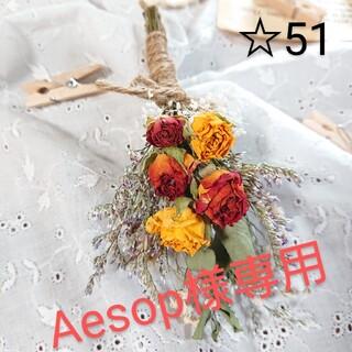 Aesop様専用 ドライフラワースワッグ ☆51(ドライフラワー)