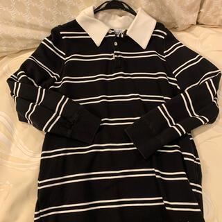 アズールバイマウジー(AZUL by moussy)のmoussy ラガーシャツ(カットソー(長袖/七分))