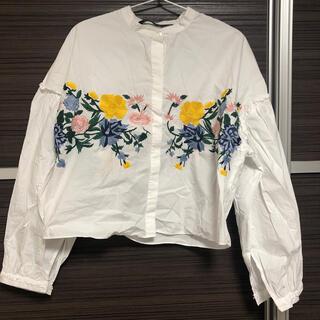 ザラ(ZARA)のZARA 刺繍シャツ(シャツ/ブラウス(長袖/七分))