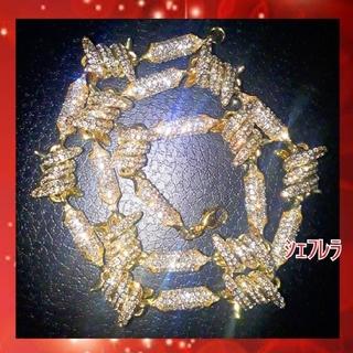 鉄線からゴールドチェーンに ■ハイクラス 有刺鉄線ネックレス czダイヤモンド(ネックレス)