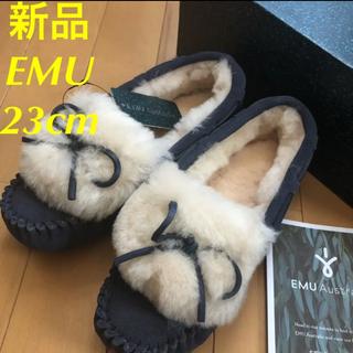 エミュー(EMU)の新品★EMU エミュー アミティ カフ モカシン ムートン (スリッポン/モカシン)
