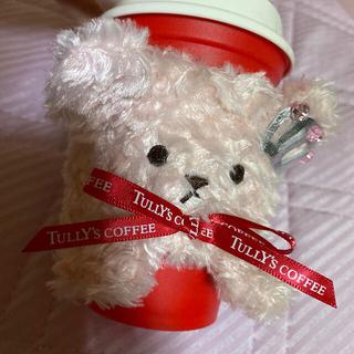 タリーズコーヒー(TULLY'S COFFEE)のタリーズコーヒー新品🌼ピンクベアフルカップスリーブ(タンブラー)