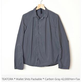 コモリ(COMOLI)の激レア teatora  wallet shirt packable(ナイロンジャケット)