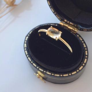宝石質シトリンリング 指輪 ゴールドリング 天然石リング(リング)