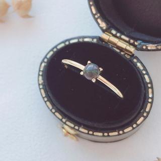 宝石質ブラックオパールリング 指輪 (リング)