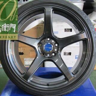 ニッサン(日産)のワーク エモーション T5R 専門業者後塗りガンメタリック 4本セット(タイヤ・ホイールセット)