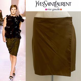 サンローラン(Saint Laurent)のYVES SAINT LAURENT 2000SS エルバス期 未使用巻スカート(ひざ丈スカート)