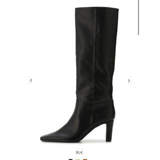 ミラオーウェン(Mila Owen)のMila Owen ミラオーウェン  完売商品 今期ロングブーツ黒 24.5(ブーツ)