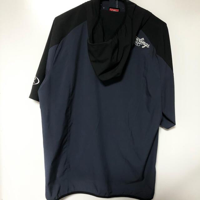 Rawlings(ローリングス)のローリングス Rawlings ジップアップ 半袖 ピステ フード付き スポーツ/アウトドアの野球(ウェア)の商品写真