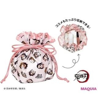 シュウエイシャ(集英社)の【新品】MAQUIA/鬼滅の刃 キャラ柄巾着ポーチ (ポーチ)