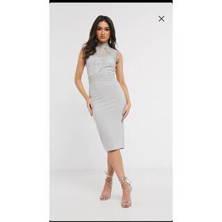 エイソス(asos)の膝丈 上品ドレス (╹◡╹)(ミディアムドレス)