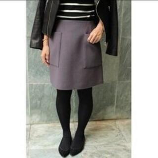 イエナ(IENA)の【美品】IENA ブレンドビーバー 台形スカート ミニスカート(ミニスカート)