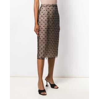 ヌメロヴェントゥーノ(N°21)の超美品 N°21 ドットペンシルスカート 40(ひざ丈スカート)
