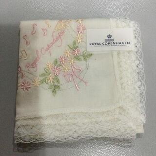 ロイヤルコペンハーゲン(ROYAL COPENHAGEN)のロイヤルコペンハーゲン レース ハンカチ 刺繍 新品未使用(ハンカチ)