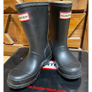 ハンター(HUNTER)のHUNTER ハンター 新品未使用 キッズ 15cm ブラック (長靴/レインシューズ)