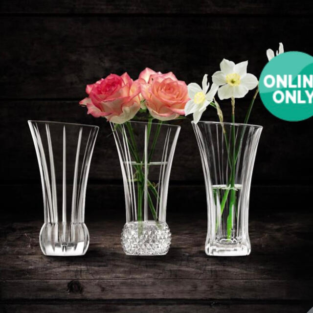 Nachtmann(ナハトマン)の【新品未使用】ナハトマン 花瓶 3個セット インテリア/住まい/日用品のインテリア小物(花瓶)の商品写真