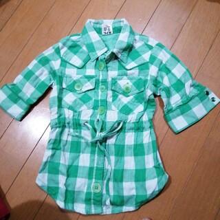 エムピーエス(MPS)の300円セール☆MPS 五分袖チェックシャツ 90(ブラウス)