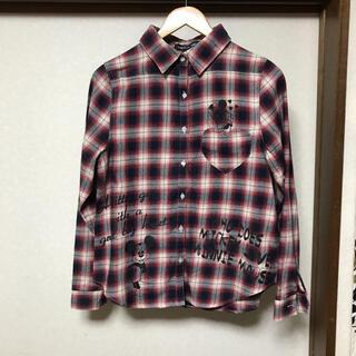 セシルマクビー(CECIL McBEE)のセシルマクビー✖️ディズニー コラボ チェックシャツ M レディース(シャツ/ブラウス(長袖/七分))